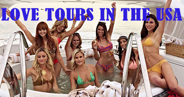 Love Tours in The USA. Reside with 19 of the most gorgeous women at our Love Villa
